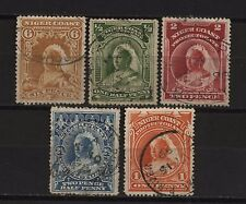 Niger Coast Collection 5 QV Stamps Used