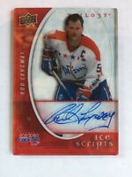 2008-09 UD TRILOGY ICE SCRIPTS ROD LANGWAY AUTO AUTOGRAPH WASHINGTON CAPITALS