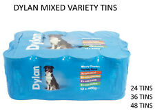 More details for dylan delicious meaty chunks 400g tinned dog food canned variety packs dpd 24hr
