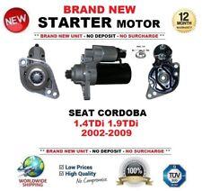 FOR SEAT CORDOBA 1.4TDi 1.9TDi 2002-2009 STARTER MOTOR BRAND NEW 2.0kW 11Teeth