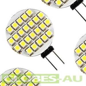 2x G4 24 LED GLOBE WARM COOL WHITE 12V DC Light Bulb Garden Camper Jayco Caravan