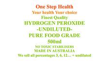 HYDROGEN PEROXIDE PURE FOOD GRADE UNDILUTED 35ONESTEPHEALTH BRAND  2 X 500ml