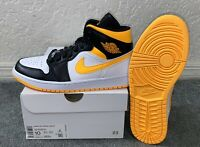 Women's Air Jordan 1 Mid SE (CV5276-107) Laser Orange / Yellow Women's Size 10.0