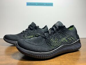 Nike Free RN Flyknit 2018 Women's Size 8 Triple Black Running Shoes 942839-002
