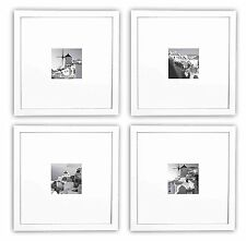 Smartphone Frames Collection,Set of 4, 11x11-inch Square Photo Wood Frames,White