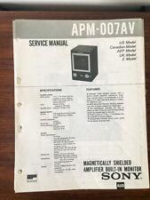 Sony APM-007 APM-007AV Speaker Service Manual *Original*