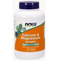 NOW Foods Calcium-Magnesium with Vitamin D and Zinc - 120 Softgels
