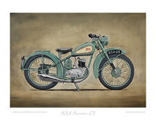 Classic Motorcycle Limited Edition Print BSA Bantam D1 by Steve Dunn