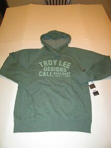 Troy Lee Designs Podium Pullover Jacket Hoody Moss/Green SMALL
