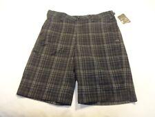 NEW Mens Under Armour Golf Shorts, Dark Gray Plaid, Size 34