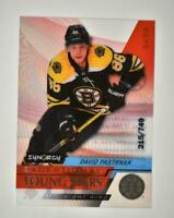 2020-21 UD Synergy Exceptional Young Stars #EY-29 David Pastrnak /749
