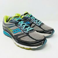 Saucony Guide 9 Running Shoes Sneakers Grey/Blue/Citron Women's Size 10.5