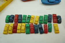 VINTAGE PLASTIC TOY CARS LOT 25 MARX CADILLAC NASH DESOTO PACKARD SMALL 2in LONG