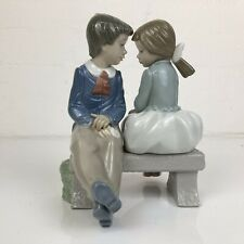 'First Love' NAO by LLADRO Boy and Girl on Bench No. 1136 EXCELLENT CONDITION