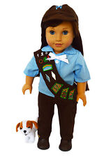 Brownies Outfit For American Girl Dolls- Pants and Sash Set