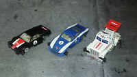 Lot 3 slot car Vintage Carrera BMW M1 + alfa romeo + truck - Moteurs OK