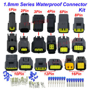 1/2/4/8/10/16 Pin Way Car 1.8mm Waterproof Auto Electrical Sealed Wire Connector