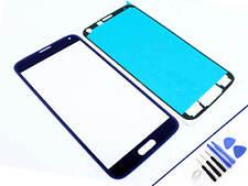 Cristal Delantero para Samsung Galaxy S5 Azul Pantalla Táctil Nuevo y Emb. Orig.