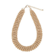 D & X London Beautiful Gold Tone Twisted Intertwining Chains Chunky Necklace