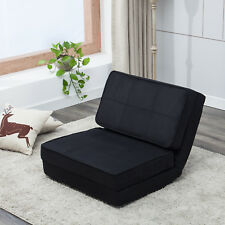 Fold Down Convertible Lounge Sleeper Sofa Bed Dorm Living Room Furniture