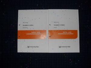 """FernUni Hagen: KuWi L4 """"Europäer in Italien"""" (Kursband + Materialband) N-E-U"""