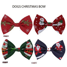 New Dogs Bow Tie CHRISTMAS Elastic Band attach COLLAR ACCESSORY Handmade UK