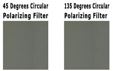 3D Circular Polarizer Pair of Sheets - Left and Right Eye 45 degree 135 degree
