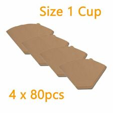 1k Generic Size 01 Filter Papers, Brown, 80 pcs 19 4 Boxes