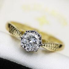 Vintage 18ct Yellow Gold 0.33ct Diamond Ring