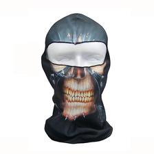 New Skull Balaclava Bikie Biker Face Head Mask Gator Black Skeleton Warm Winter