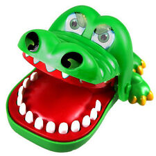 Large Crocodile Big Mouth Dentist Bite Finger Game Funny Toy for Kids Children