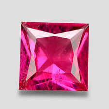3.20CTS EXCELLENT SQUARE PRINCESS CUT NATURAL PURPLE PINK RUBELLITE WATCH VIDEO
