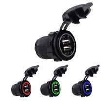 Hot 12-24V Cigarette Lighter Socket With Dual USB Port Car Charger Power Adapter