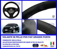 VOLANTE RIVESTITO  VERA PELLE FIAT GRANDE PUNTO MADE IN ITALY STERZO MANUBRIO