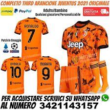 Maglia Juventus Terza 2020 2021 Third Ronaldo Dybala Morata Arancione Originale
