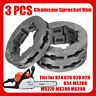 3Pcs 7 Teeth Sprocket Rim for Stihl 024 026 028 029 034 MS260 MS270 MS280 MS290