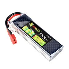 Lion Li-Po Battery 11.1V 1300mAh 25C Max 40C T Plug For RC Car Airplane OK01