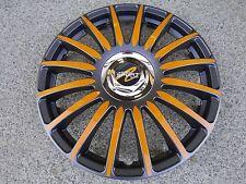 "4 Alu-Design Radkappen in 13 Zoll ""Grand Prix anthrazit/orange Typ 3"