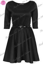 Vêtements noirs décontractées à manches courtes pour fille de 2 à 16 ans