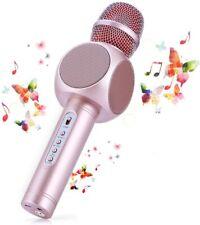 Wireless Bluetooth Karaoke Microphone, 3-in-1 Portable Karaoke System with speak