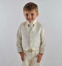 f78bf5f5fd293 Boys Suits Waistcoat Suits Boys Wedding Suits 4pc Baby Page Boy Party 6  Colours