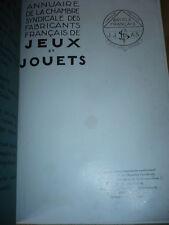Annuaire de la chambre syndicale des fabricants français de jeux et jouets 1935