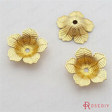 (29470)50PCS 16MM Brass Flower Beads Caps Jewelry Findings Accessories