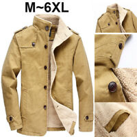 Winter Men's Jacket Polar Fleece Lined Thicken Outwear Casual Stand Collar Coat