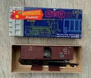 ROUNDHOUSE 1031 HO GAUGE 40' BOX CAR KIT – SANTA FE – A.T. & S.F. 129709 - BOXED