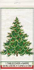 Christmas Xmas Party Decoration Tree Music Note Plastic Table Cover Tablecloth