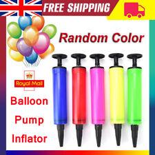 Random 1PCS Balloon Pump Hand Held Action Plastic Inflator Xmas Party Ballon UK