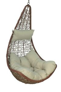 Large Grey Cushion For Hanging Egg/Swing Chair W/ Head Rest *CHAIR NOT INCLUDED