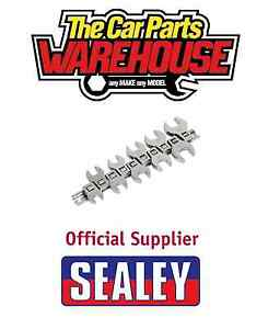 SEALEY S0866 Crows Foot spanner 10pc Flare Nut 3/8Sq Drive Metric Siegen