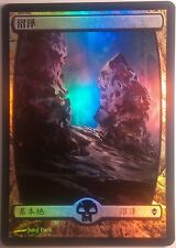 Marais Full Art Zendikar  PREMIUM / FOIL Chinese Textless Swamp - Magic mtg 239